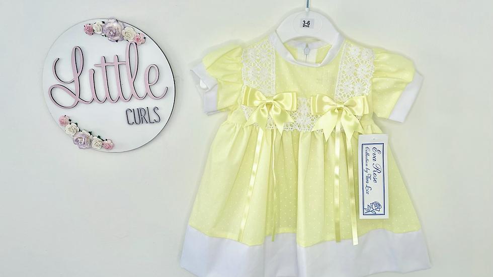 Lemon spotty dress