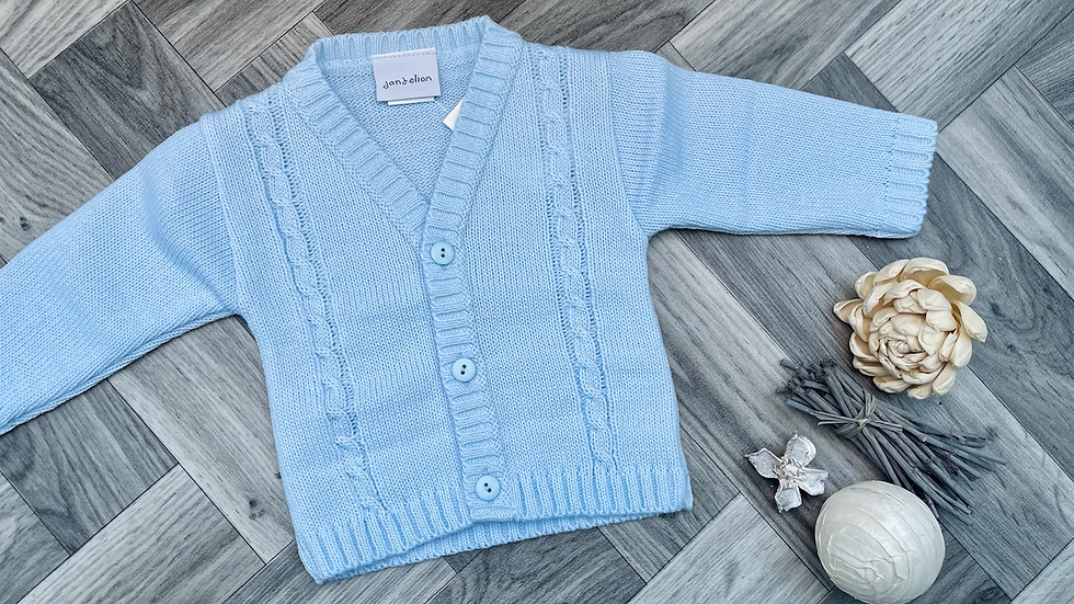 Blue knitted cardigans