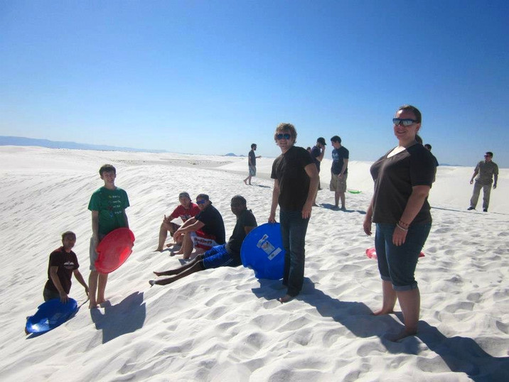 April 2013 - Stopping at White Sands National Monument on the way to the Rocky Mountain Regional Conference