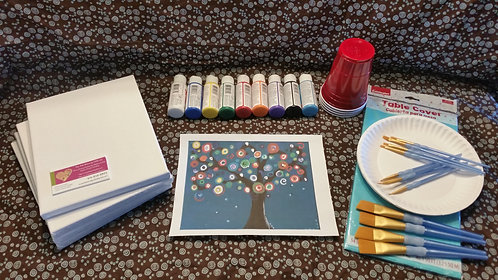 Art Party Example Kit 15: Whimsical Tree example