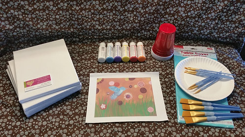 Art Party Express Kit 8: Field Bird example