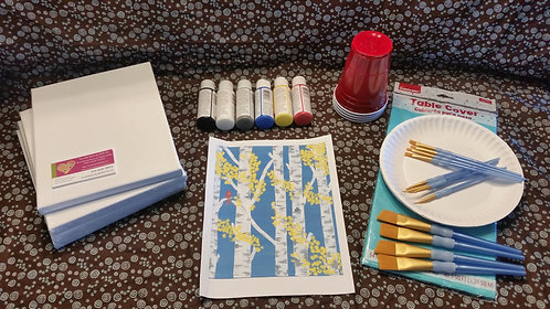 Art Party Express Kit 2: Birch Trees example