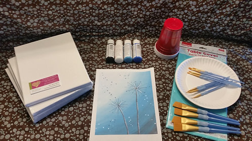 Art Party Express Kit 7: Dandelion example