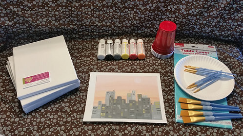 Art Party Express Kit 5: Cityscape example
