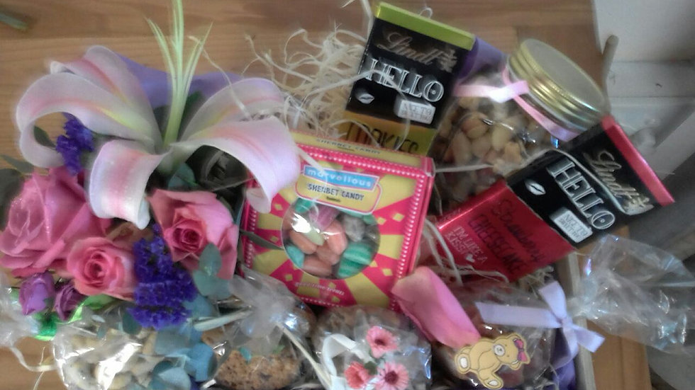 Flowers and Candy Box