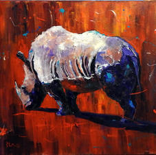 Rhino with Red