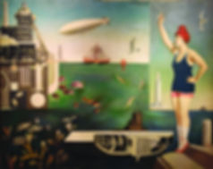 ALTA Sea_by_Harue_Koga,_1929,_oil_on_can