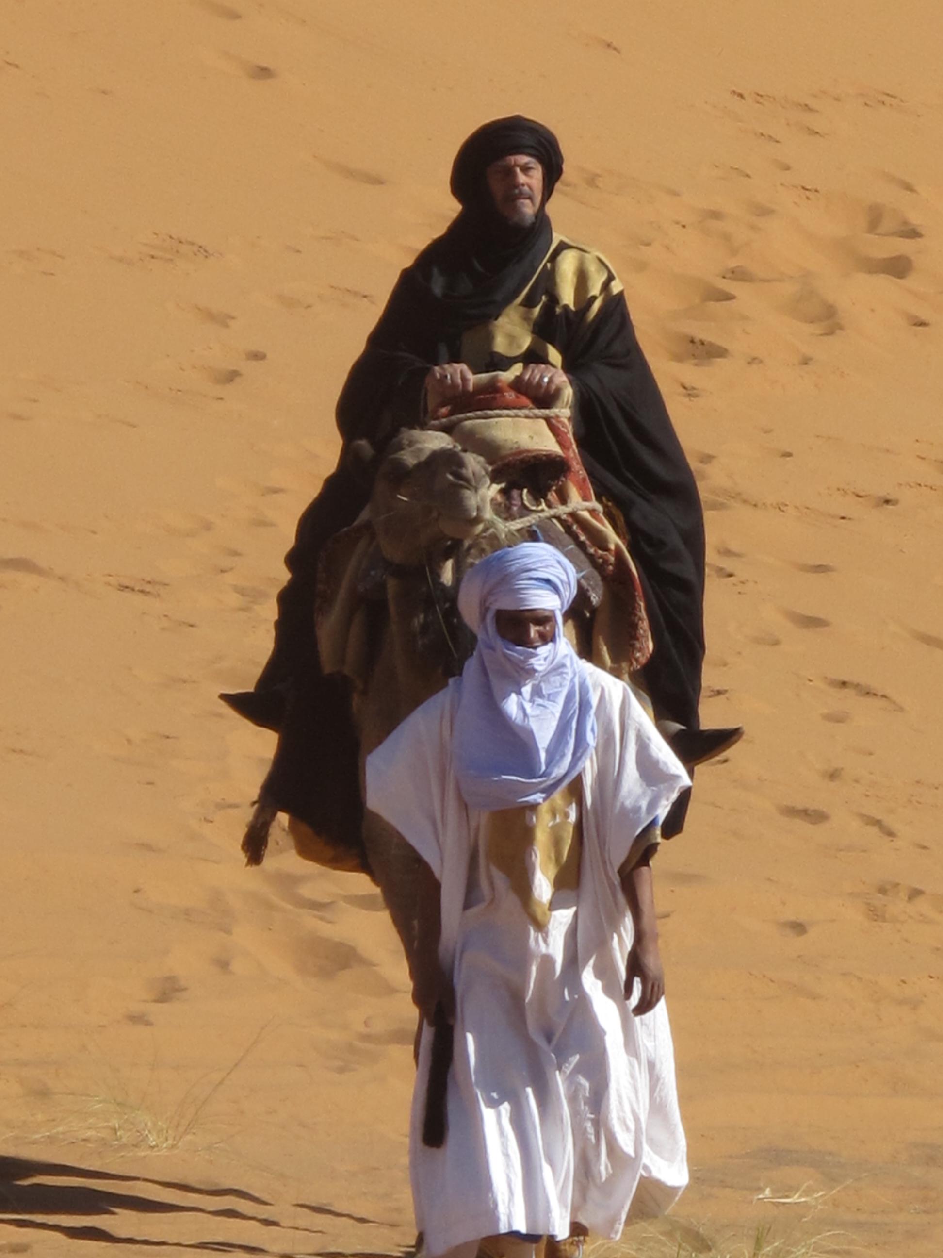 Tuareg a la cabeza-Sahara