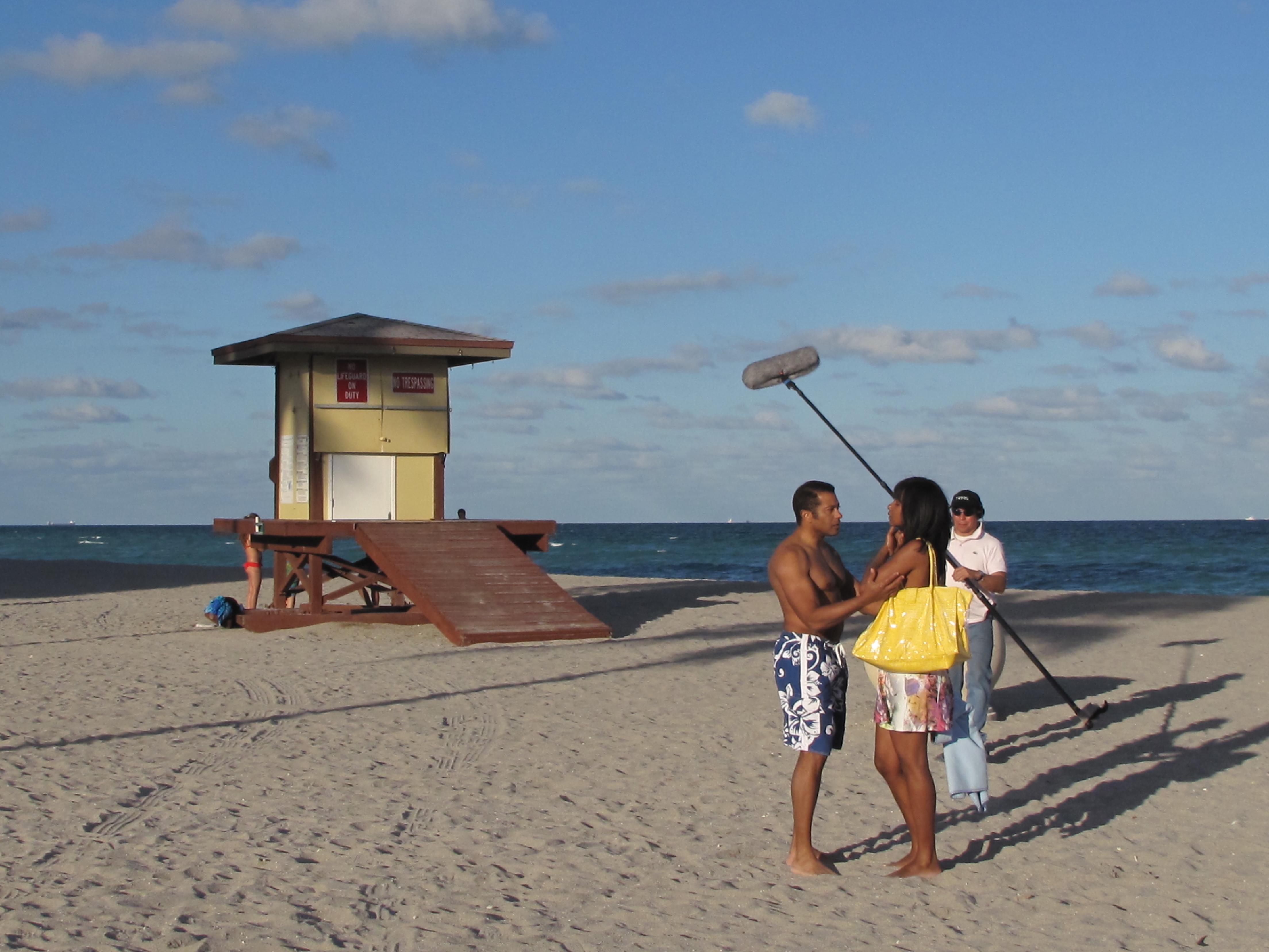 Novios peleando-Miami beach