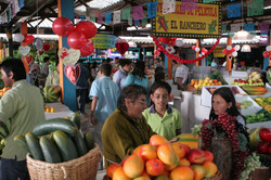Montaje en mercado de Bogotá