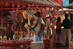 Feria de pueblo-montaje en Tabio