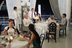 Restaurante Isla-montaje en locación