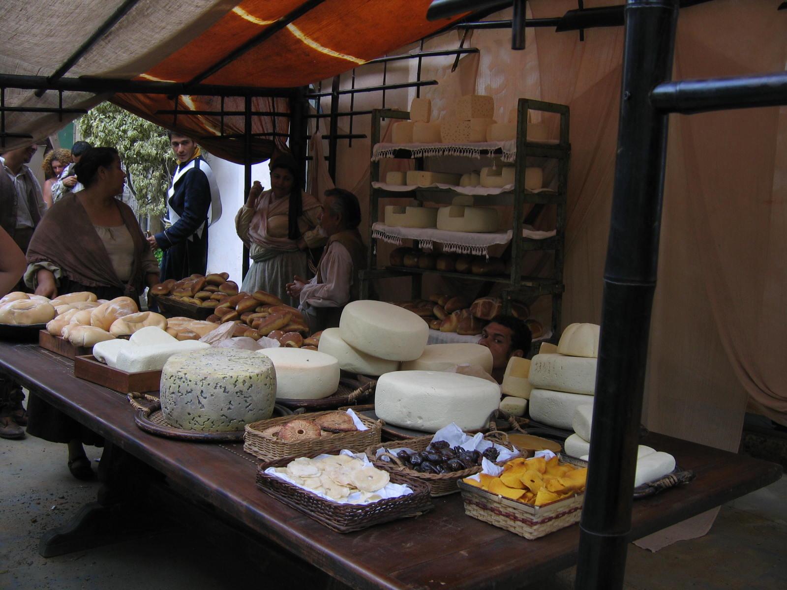 Los quesos y los panes en Barcelona