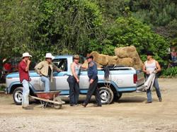 Trabajadores de la hacienda