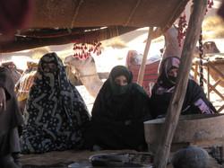 Mujeres campamento tuareg
