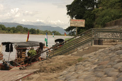 Muelle rio-montaje en Suarez