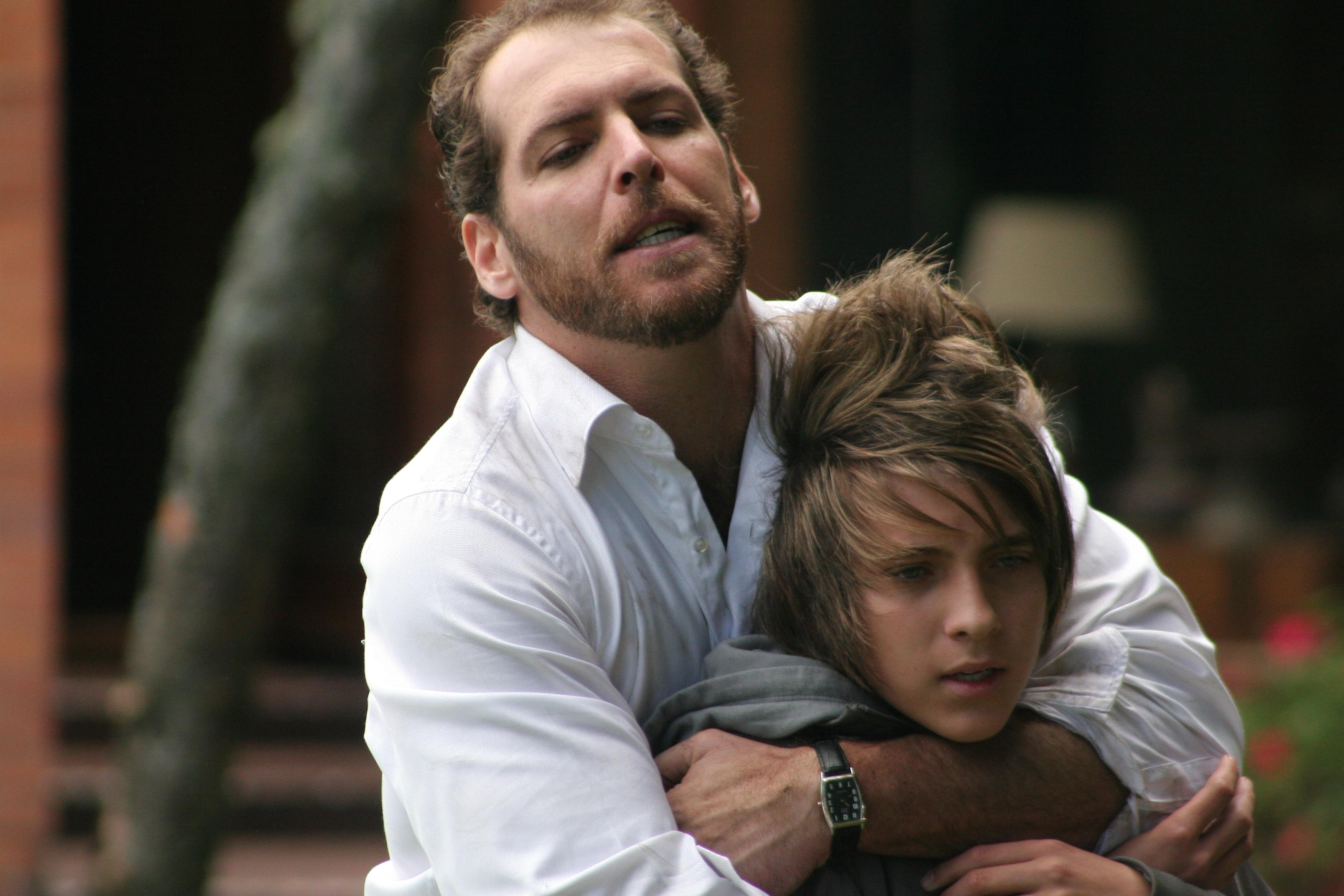 Gallardo y su hijo