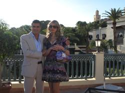 Papa protagonistas con su novia-hotel en Fez