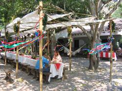 Fiesta en la hacienda principal