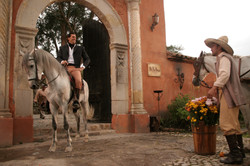 Fachada hacienda de La Vega