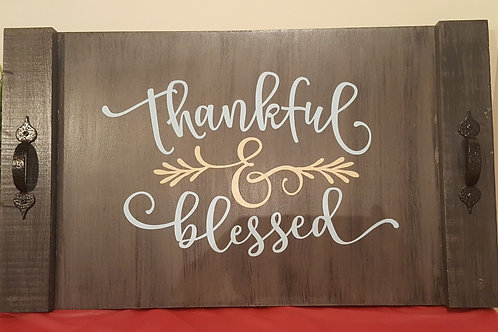 Thankful & Blessed Tray