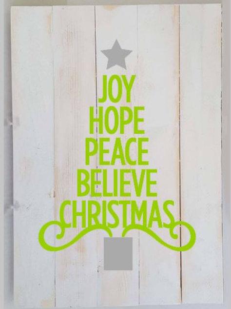 Joy Hope Peace tree