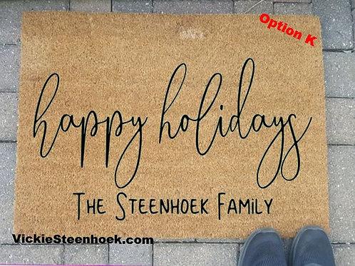 Happy Holidays Mat - OptK