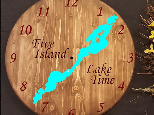 Five Island Lake Time Clock - Emmetsburg, IA
