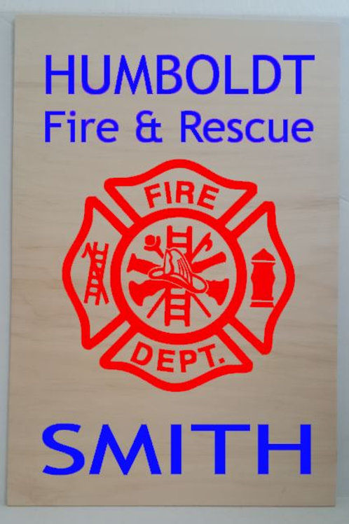 Fire & Rescue Sign - customized