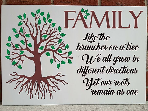 Family: Like the branches on a tree