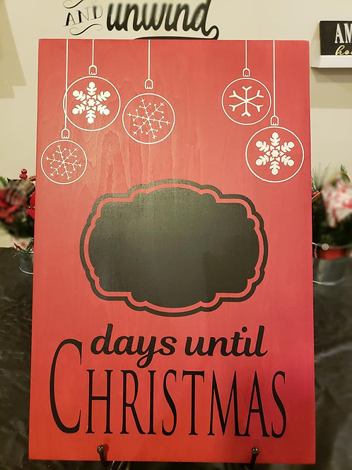 days until Christmas - Chalkboard