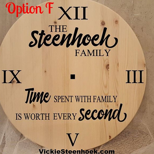 Clock - Style F: Custom time spent
