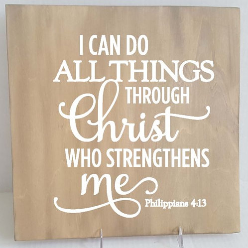 All I can do all things through Christ