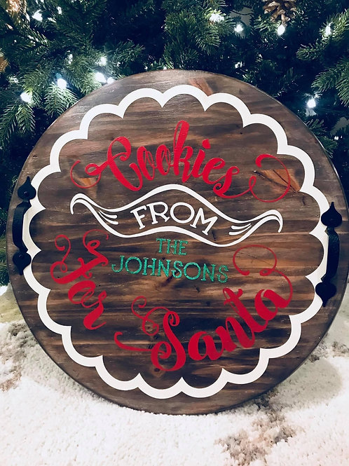 Cookies from Santa - Round Tray or Lazy Susan