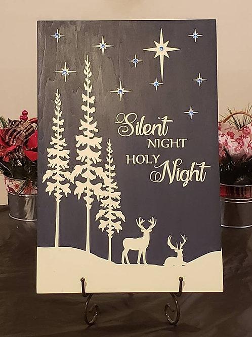 Christmas Winter Scene - Lighted