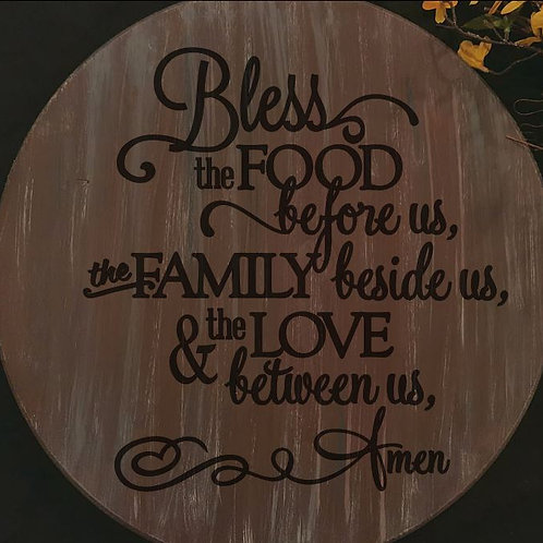 Bless the food before us - lazy susan