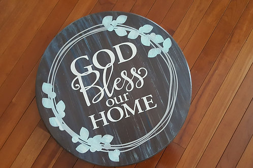 God Bless our Home - lazy susan