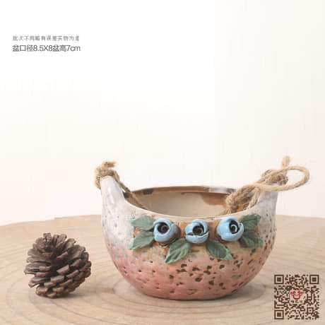 Hangable Succulent Bowl Basket Pot 8.5cm x 7cm