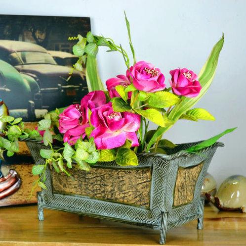 Vintage Style Garden Metal Pots Indoor or Outdoor