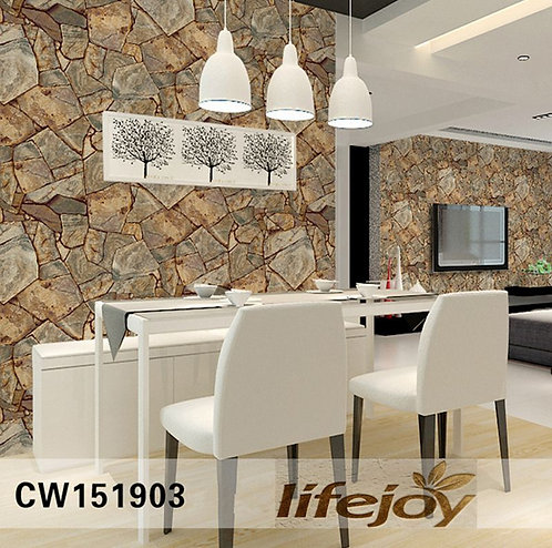 Marble Rock Slate Realistic Wallpaper Roll 151903