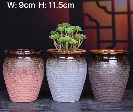 Set of 3 Classic Matte paint Ceramic pots