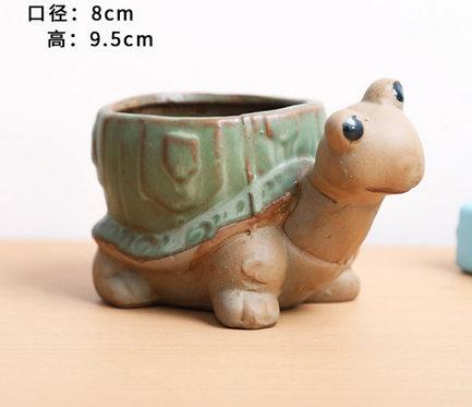 Animal Collection - Ceramic Succulents Pots Green Turtle Large 8x9.5cm