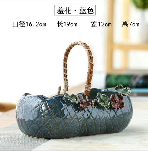 Gloss Glaze Succulent Baskets Selection 014