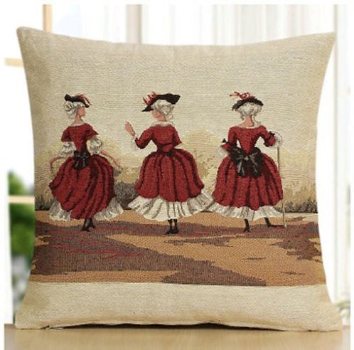 POLYESTER MIXED COTTON CUSHION COVER Dancing