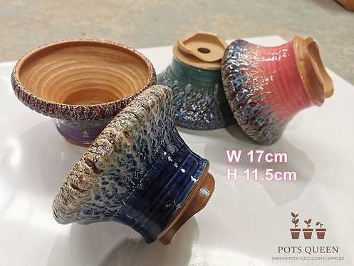 Gloss Glaze Blasting pots for Succulents Cactus Flower Outdoor #9