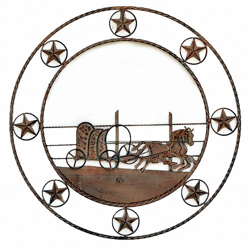 Wall Decor Metal Wall Sculpture Antique Style 83cm