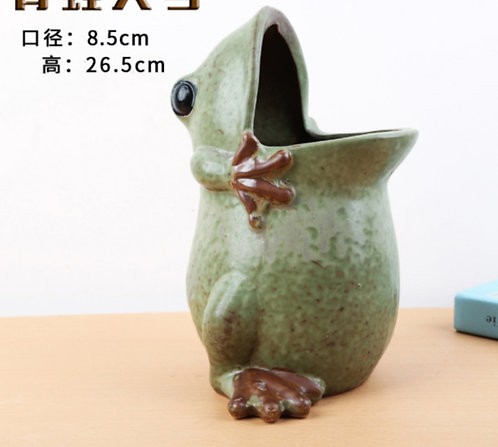 Animal Collection - Ceramic Succulents Pots Green Frog Large 27cm Height