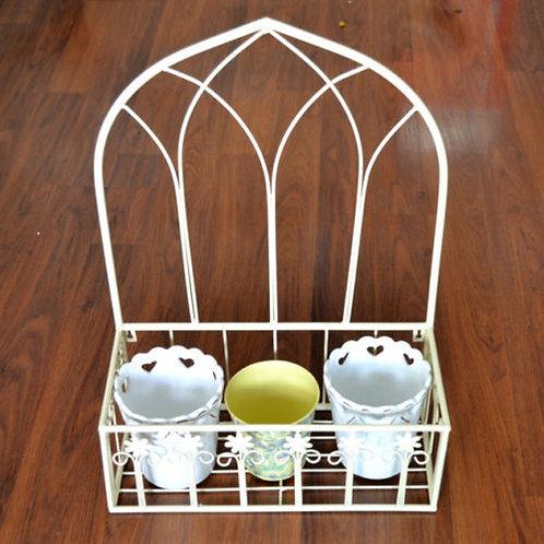 Wrought Iron wall basket planters/pot flower holde