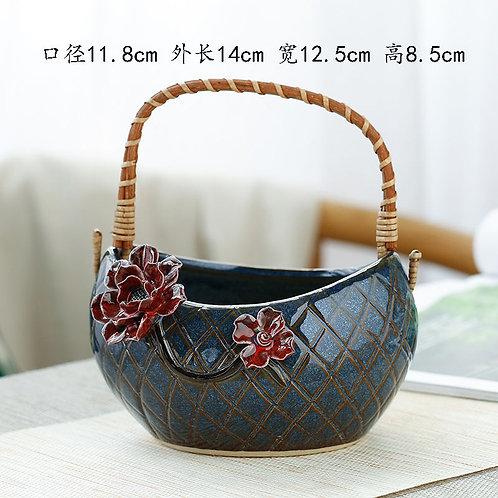 Gloss Glaze Succulent Baskets Selection 001