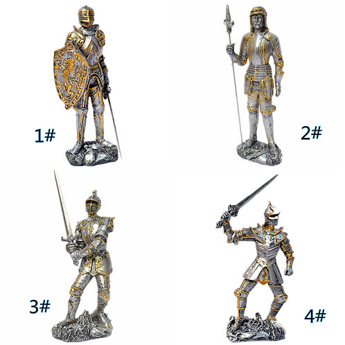 """Selection of Poly Resin Warriors """"The Crusades"""""""
